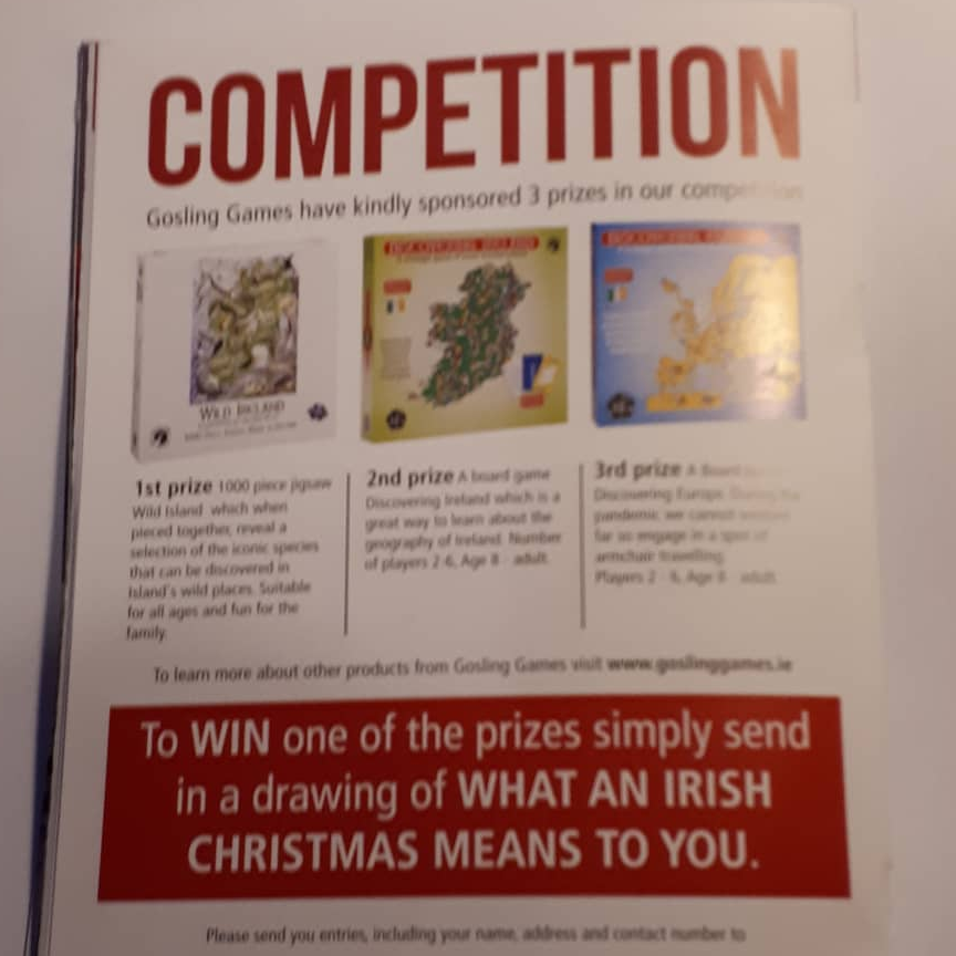 Great competition prizes from Gosling Games in FREE Xmas Edition of Whats on in West Cork